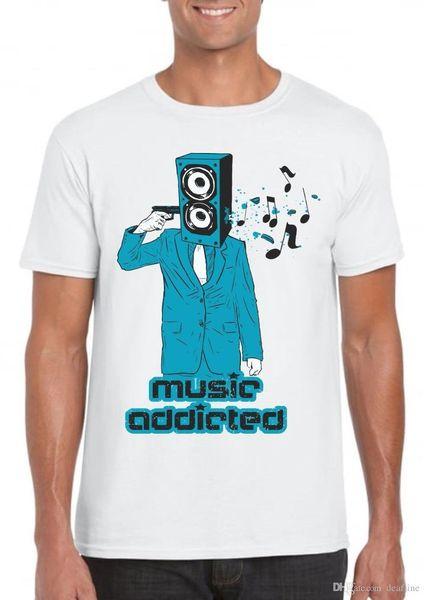 2018 Streetwear Kısa Kollu Tees tişörtlü mens müzik hipster retro dj xxl xl komik hediye elbise kentsel şehir Komik Rahat Giyim
