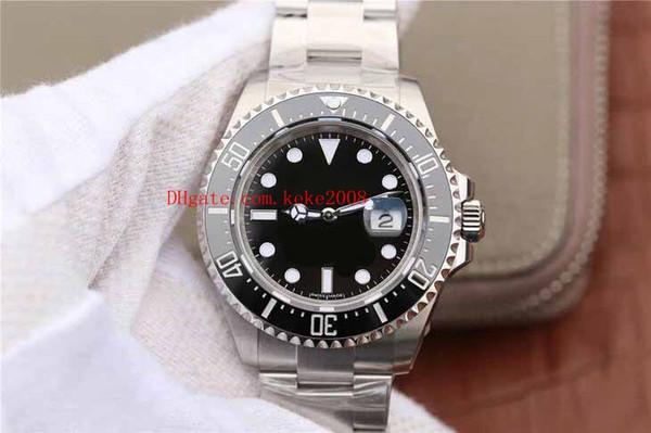 Los mejores relojes de pulsera de lujo AR Factory 43mm 126600 Mar Rojo Mar-Dweller Ceramic 904l Steel Swiss ETA 2836 Movimiento Reloj automático para hombre