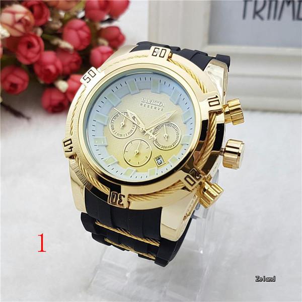 En liquidación disfruta el precio de liquidación Promoción de ventas Compre Factory Supply Invicta Watches 6 Punteros Luxury Warch Rubber Band  Big Dial Relojes Invicta Reserve Reloj Cronógrafo Reloj Assistia A $75.38  ...