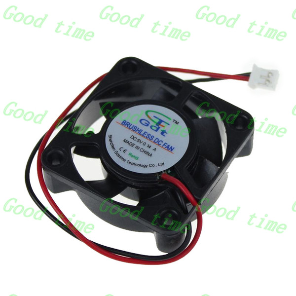 Wholesale-Gdstime 10 pcs 5V 40x40x10mm DC Brushless mini Cooling Fan 40mm Computer Cooler 1.57 inch 2.0 2 Pin Connector 2 Wire 4cm