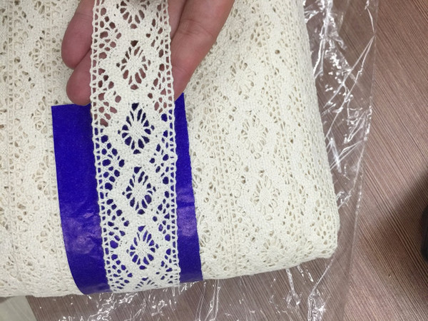 200Yards 35mm wide cheap 100% Cotton beige color Lace COTTON CLUNY LACE TRIM - LOVELY DESIGN for babay and doll clothes
