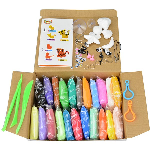 24 Colors Intelligent Clay Plasticine Clay Playdough With Tool Kit Mud Children's Educational Toys Doh Magic Sand Play Gum