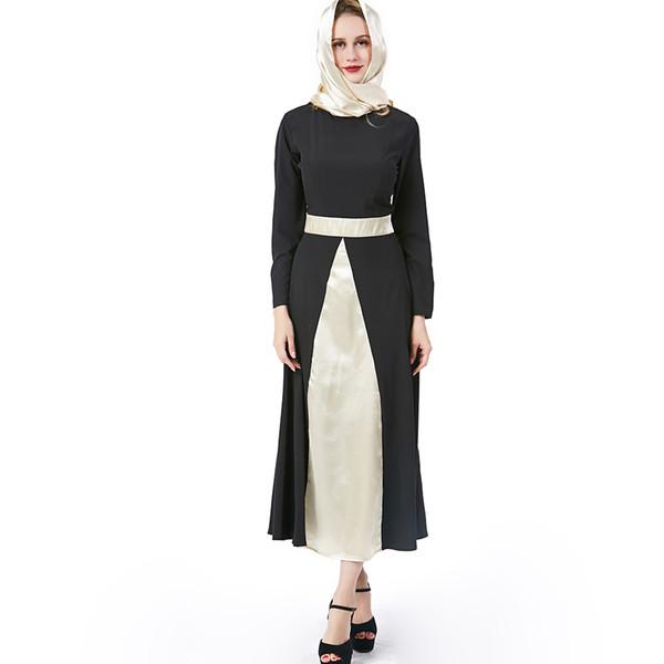 Beauty Garden Muslim Women Dress Solid Plus Size Black Robe abaya islam Dresses Long sleeve Kaftan Brand Fashion Dress