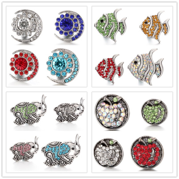 noosa chunks snap button jewelry metal rhinestone fsh moon snap buttons for 18mm snap button necklace bracelet