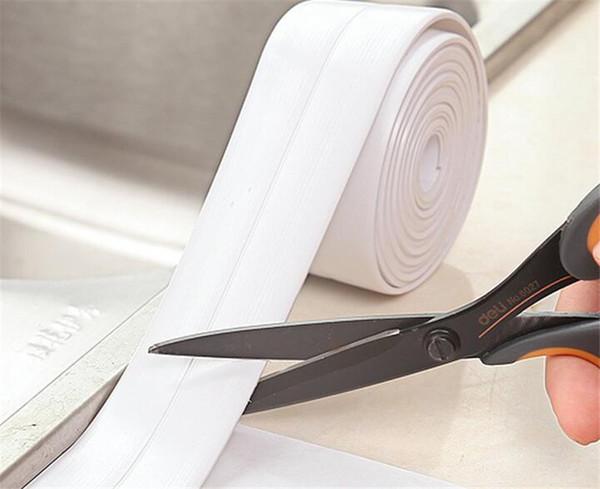 Hot Home Garden Self Adhesive Kitchen Ceramic Sticker Waterproof Anti-moisture PVC Sticker Bathroom Wall Corner Line Sink Stickers 3.8*320cm
