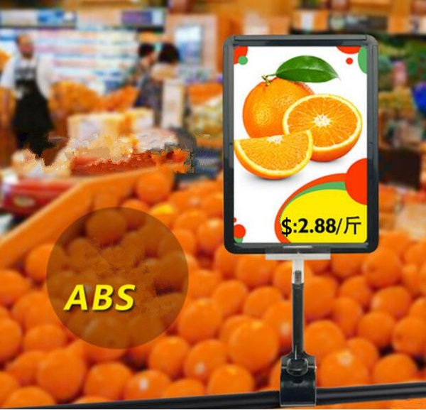 A5 Frame pop advertising poster display stand rack fashion Supermarket Thumb clip Fruit vegetable price tag Promotions card holder 10sets