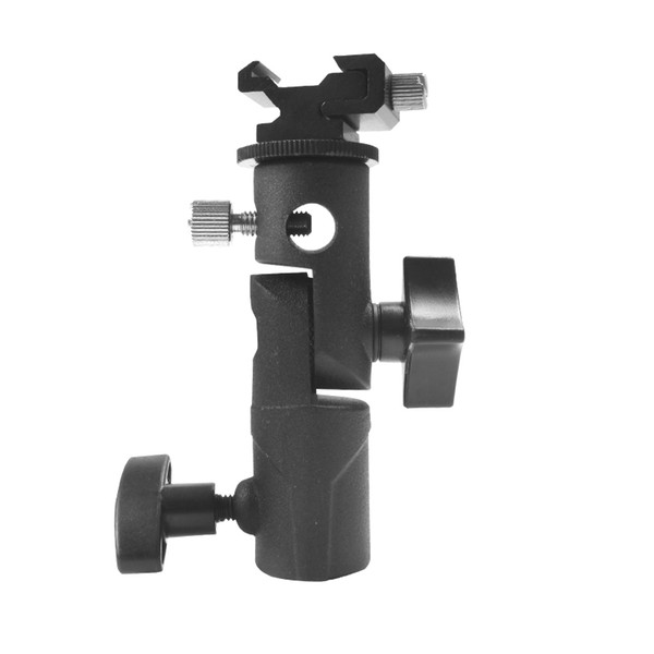 """New Light Bracket Stand Type E Swivel Flash Hot Shoe Umbrella Holder With 1/4"""" to 3/8"""" Screw Mount For Photo Studio Accessories"""
