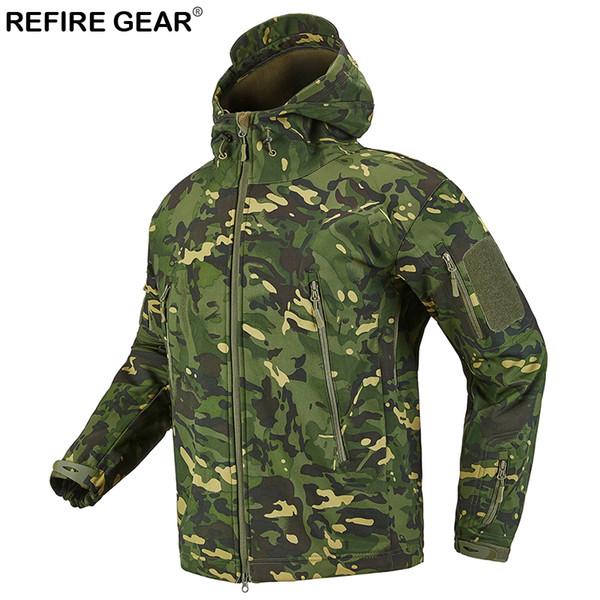 Wasserdicht Jacke Outdoor Großhandel Wandern Von Männer Windbreaker Jagd Gear Fleece Refire Soft Sport 2019 Taktische Shell Camping Camo Jacken wmnN80