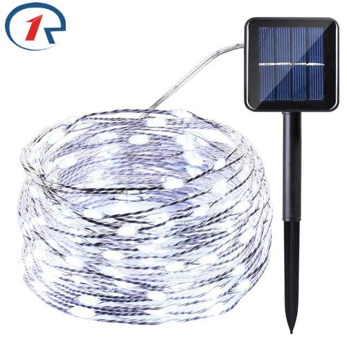 20 m 200 LED Copper Wires Solar String Fairy Lights Premium Quality Solar Panel Lampara For Christmas Garden Decoration