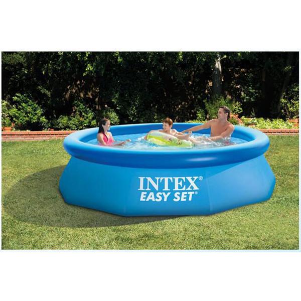 305cm 76cm INTEX bleu AGP piscine hors sol piscine famille gonflable pour adultes enfants enfant aqua été