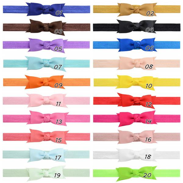 20pcs Hair Bow Headband for Girls beautiful Hairbow Double Ribbon Bow Headbands, Double Layer Hairbows Headwear FD788