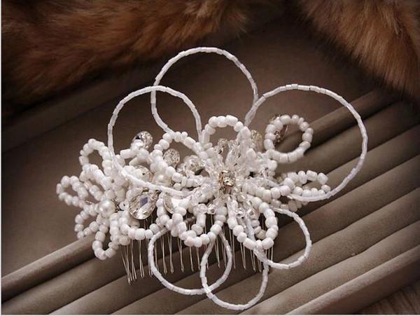 Accessori per capelli fatti a mano su fascia Hanban, accessori per abiti da sposa rosa, copricapo da sposa fatti a mano