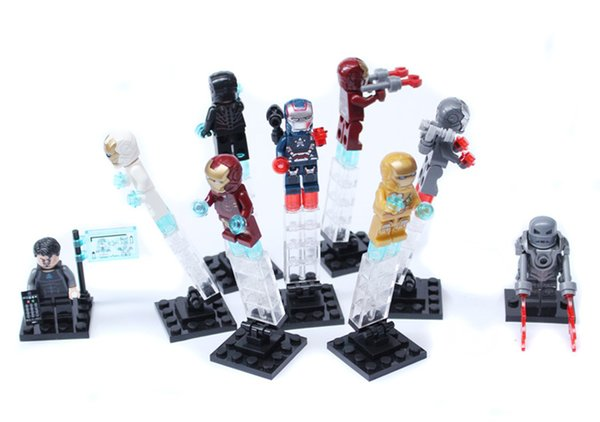 Iron Man Patriot Midas War Machine Tony Stark Gemini Mark 1 4 16 21 35 39 Toy Figure Building Block