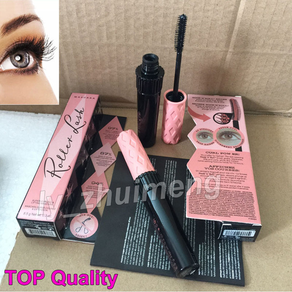 in stock Roller Lash Mascara sex Eyelash Makeup 8.5g Black Waterproof Classical High Quality Super Curling Mascara Free Shipping