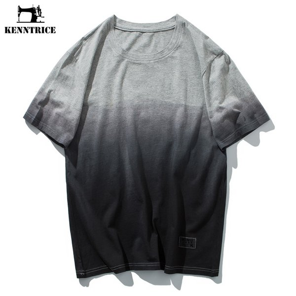 KENNTRICE Men Clothes 2018 Summer Top Uomo T Shirt Gradient Hip Hop Coon T-Shirt Uomo ultimi disegni Tshirt
