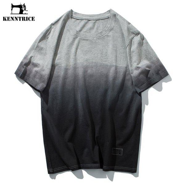 KENNTRICE Hommes Vêtements 2018 D'été Top Hommes T Shirt Gradient Hip Hop Coon T-Shirt Hommes Dernières Modèles T-shirt