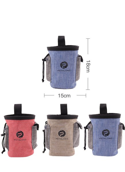 3styles Pet Food Training Pouch Dog snack Puppy Walking Treat Snack Bag Dispenser Waist Storage Food Container Bag FFA319 30pcs