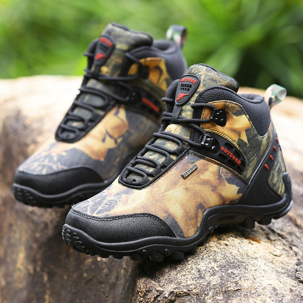Hiking Shoes Anti-skid Men Sport Outdoor Hiking Trekking Shoes Breathable Climbing Shoes Men Sneakers Wear Resistant Boots