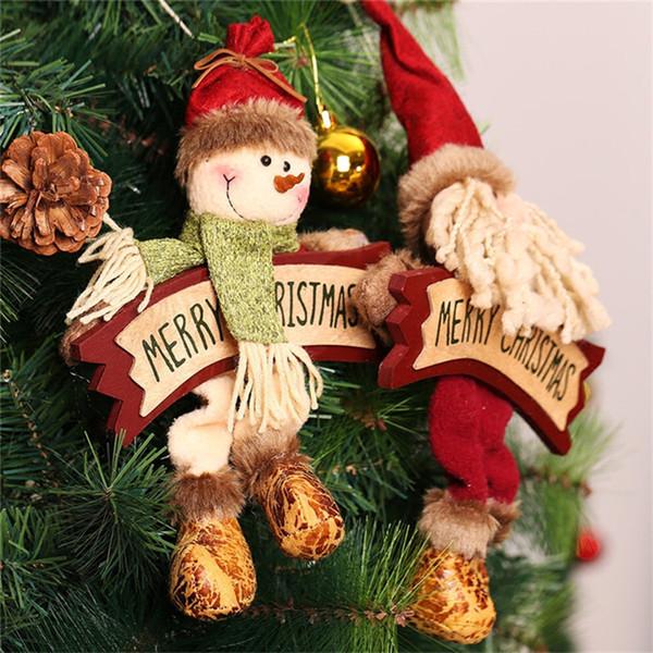 Weihnachten Anhänger Dekoration Wand Tür hängen Ornament Weihnachtsbaum Drop hängen Decoracion Navidad Holzdekor Natal Adornos