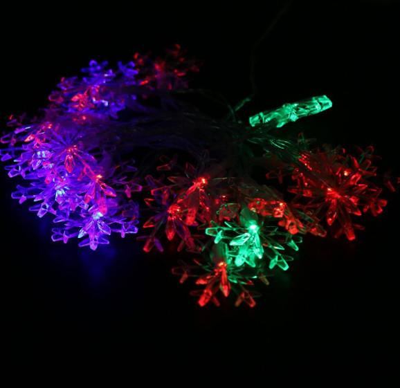 Festive & Party Supplies LED lamp string battery box 20LED snowflake lamp string Christmas day decoration flashing lamp Snowflake Christmas