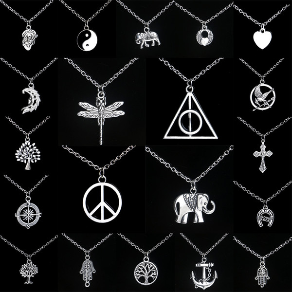 Personalized alloy pendant necklace hot explosion models (with chain) mix order