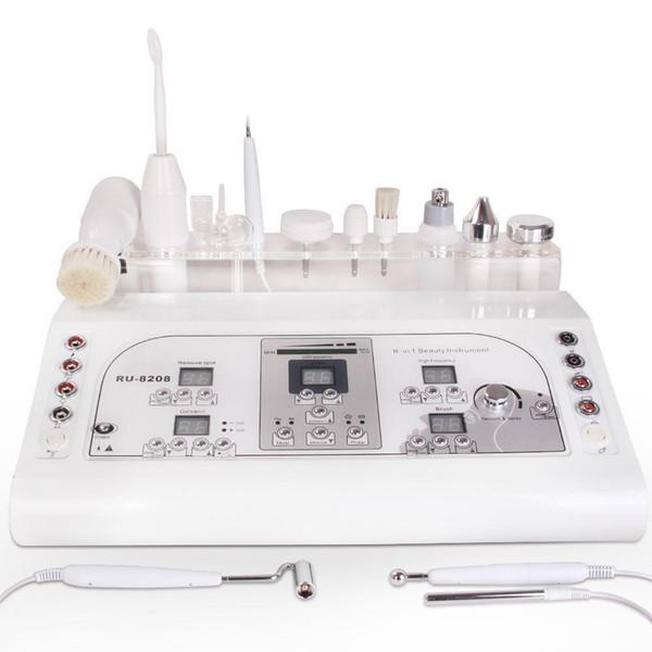 7 funciones pincel facial masaje ultrasónico micro corriente spa galvánico electrodo de alta frecuencia eliminación de manchas faciales máquina electrocautery