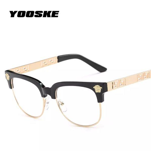 bf4268ca27 clear frame prescription glasses Promo Codes - YOOSKE Fashion Clear  Sunglasses Women Men Optics Prescription Spectacles