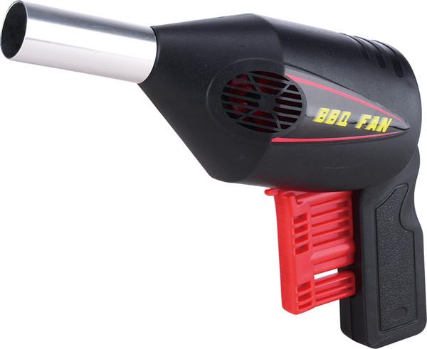 2018 Super quality 2PCSXManual BBQ Fan Air Blower Barbecue Fan Pressing Fire Bellows Portable Gun