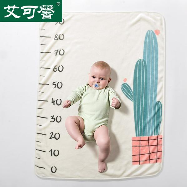 Baby Flanell Decken Buchstaben Zahlen gedruckt Decken weichen Neugeborenen monatlichen Wachstum Fotografie Hintergrund Requisiten Kinder Foto Kulissen BHB48