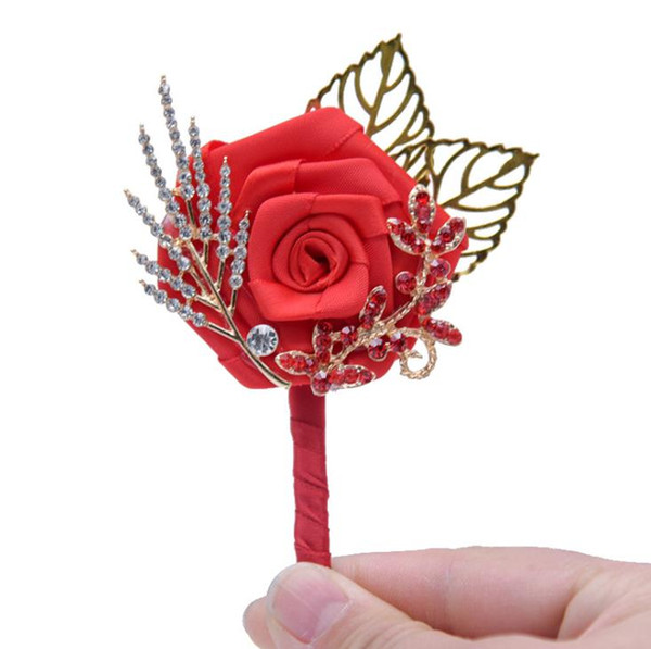 2018 Wedding supplies wedding traditional Chinese style bride and groom simulation flower bridesmaid groomsman brooch brooch