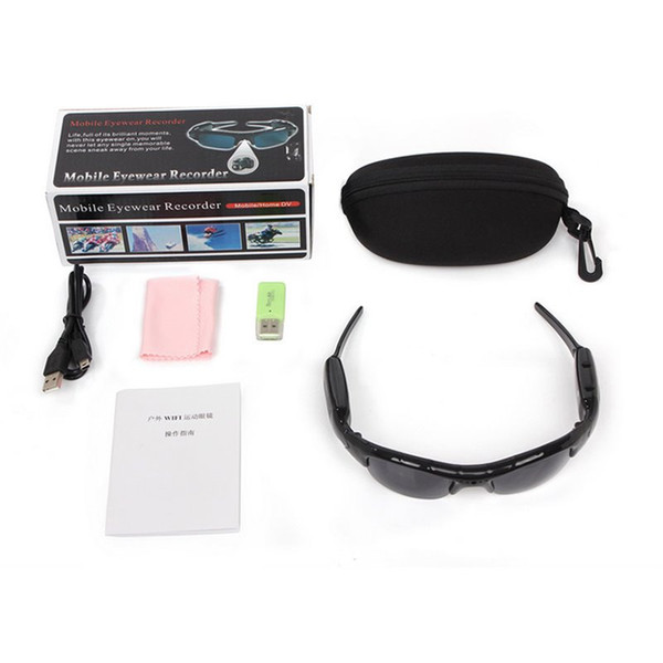Zerosky 720P Wifi Sport Sunglasses Mini Camera with Audio Sound Video Recorder Bicycle Bike Cam Camera DV Digital Video