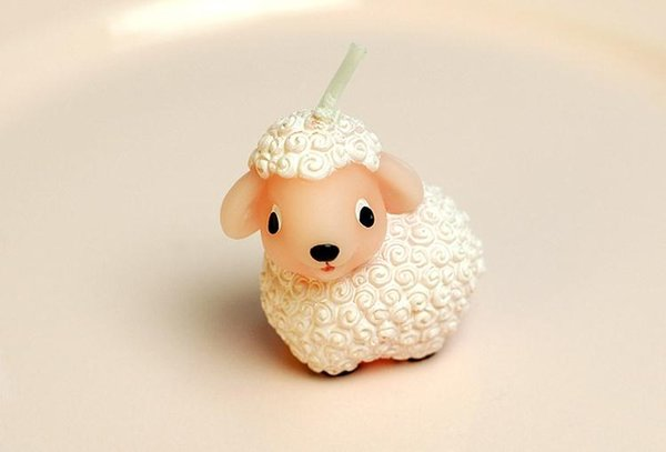 100sets/lot, Creative Small lamb birthday candles Children's party decoration candle Valentine's day birthday candle SN1367