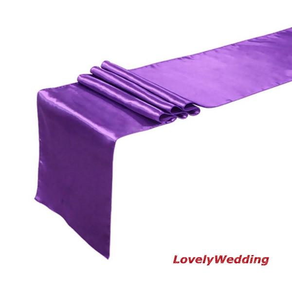 Kostenloser versand polyester satin tischläufer größe 35 cm breit x 270 cm lang (50 teile / los) / hochzeit tischläufer mit schnelle lieferung