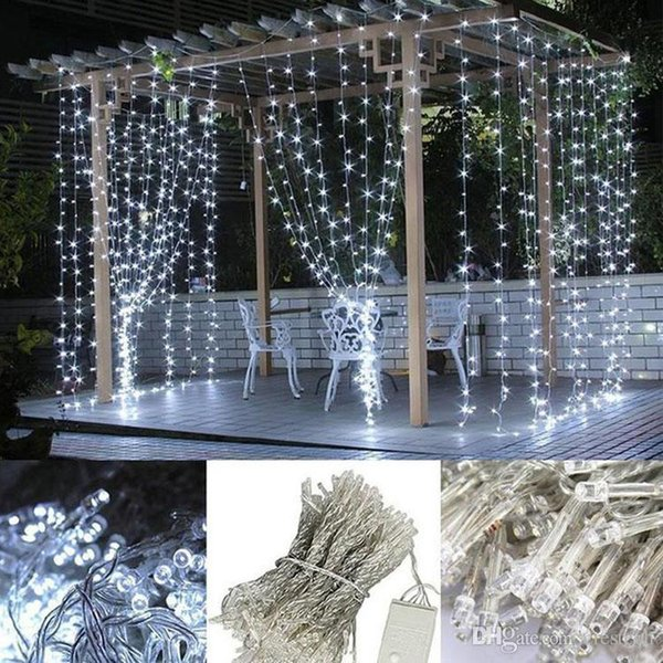 RGB 3*3M 6*3M Halloween decoration LED christmas lights LED curtain LED strip Christmas light Indoor outdoor using strip