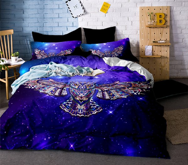 3D Owl Printed Bed Linen Bedding Set 3D Comforter Bed Cover Quilt Duvet  Cover Queen King Size Bedding Double Single Black Sheets Gingham Bedding  Buy