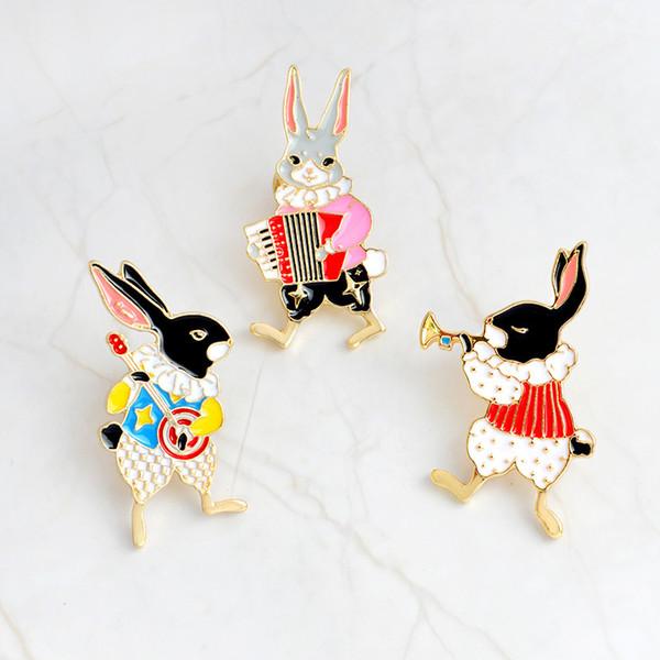 Niedlichen Tier Abzeichen Kaninchen Cartoon Anime Icons auf Kleidung Metall Abzeichen Revers Pin auf Rucksack Kleidung weibliche Pin Broschen