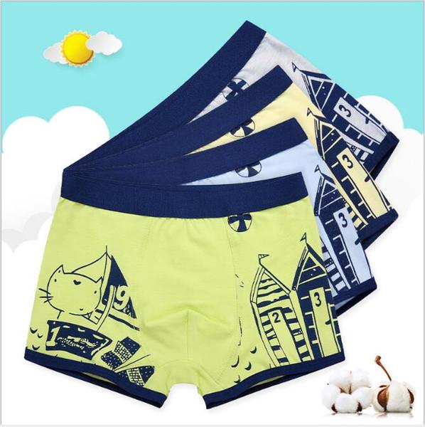 Children Clothing Kids Underwear Pure Cotton Comfortable U convex Boy Boxers Short Pants big boy Briefs Free Shipping