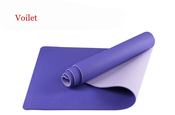 8mm TPE Yoga Mat Non Slip Double Layers With Adjustable Strap Healthy Lose Weight For Yoga include the carry bag and rope