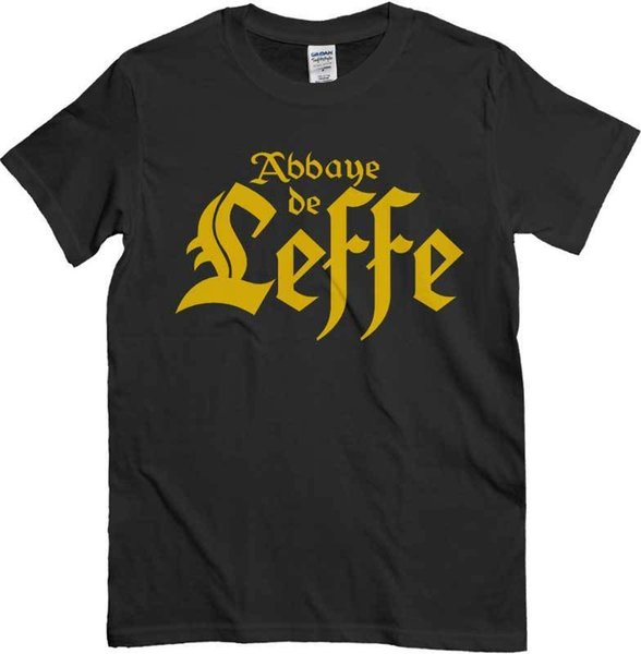 T-shirt Leffe, T-shirt Bar Pub, black for lovers of beer of the'abbey Belgian