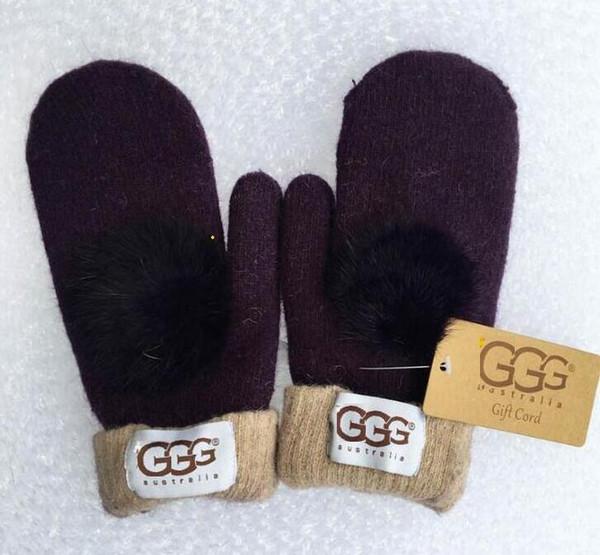 Hohe Qualität Frau Wolle Handschuhe Europäischen Modedesigner Warme Handschuh Aus Sporthandschuh Marke Handschuhe 8 Farben