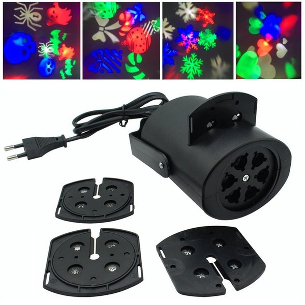 2018 Moving Christmas Laser Lights Snow Projector Lamp Snowflake LED Party Light Multicolor For Christmas Holiday Disco Stage Lamp