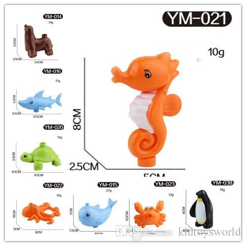 Marine Ocean Animal Series Large Particle Building Blocks Whale/shark/crab/seahorse/sea lion/octopus Kids Toys Compatible with Legoe Duplo