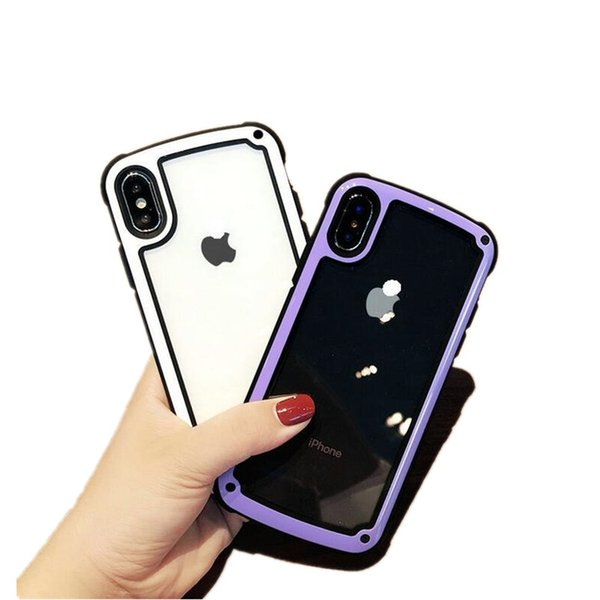 For iPhone XS Max XR 9H Tempered Glass Transparent Back Phone Case Against Falling For iPhone X 6 7 8 Plus