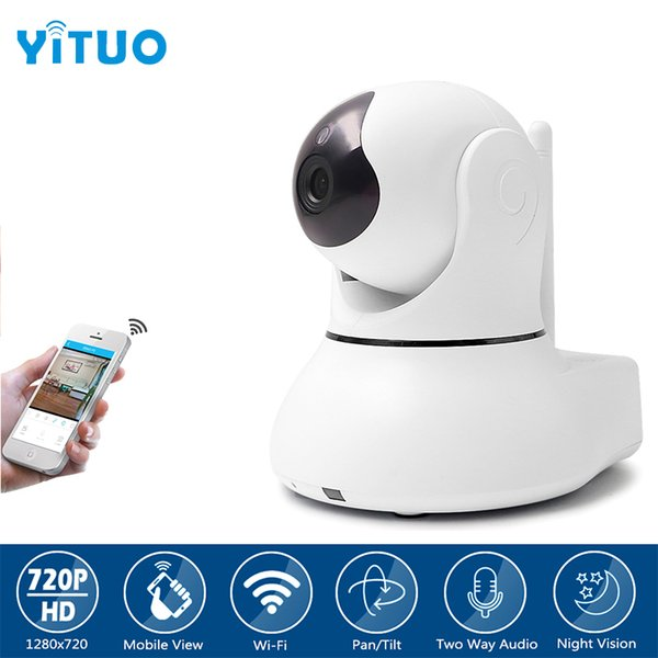 HD 720P IP Camera Wi-Fi CCTV Cam Security Network Kamera WiFi Wireless IP Camera Baby Monitor Audio QR CODE Scan Connect YITUO