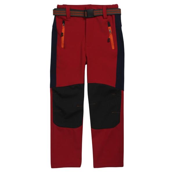 Children Softshell Trousers Waterproof Windproof Fleece Lined Kids Trekking Trousers Climbing Pants Boys Girls Sport Hiking Pant