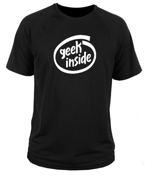 T shirt t-shirt Geek Inside intel atari comodore pc