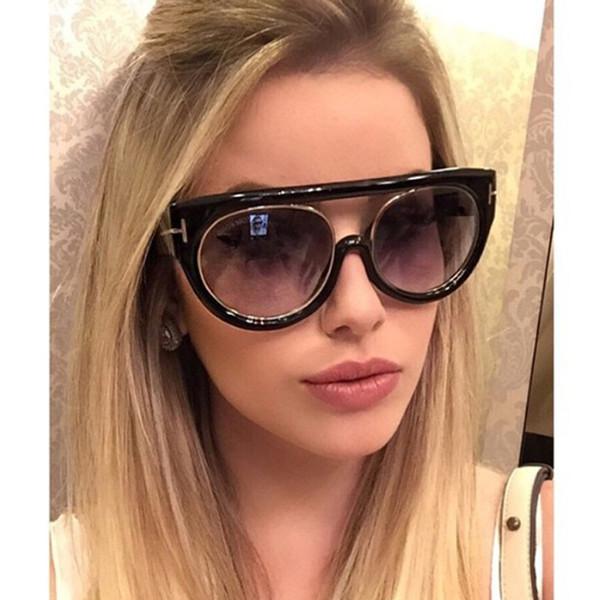 2018 NEW HOT oco mulheres de alta qualidade TOM T óculos de sol fêmeas condução acessórios de moda uv400 azul logotipo