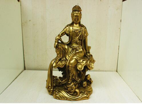 The whole network selling light copper Avalokitesvara Buddha Guanyin ornaments Home Furnishing feng
