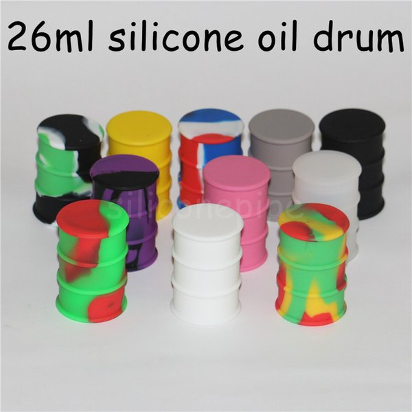 Silicone Wax Mats Square sheets pads mat barrel drum 26ml silicon oil container dabber tool for dry herb jars dab DHL free