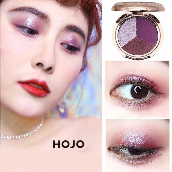 Yeni Sıcak HOJO 3 Renkler Cep Saati Mat Glitter Göz Farı Paleti Seti Makyaj Göz Farı Pudra Pallete